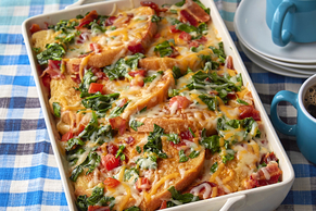 'BLT' Cheesy Egg Bake