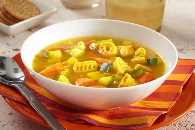 Turmeric-Alphabet Noodle Soup Image 1