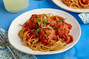 Zucchini 'Meatballs' and Spaghetti