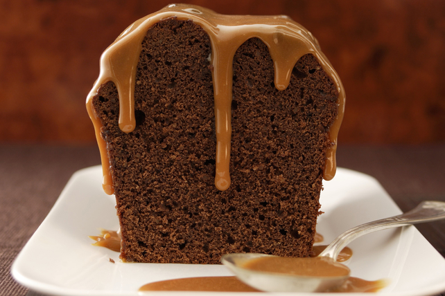 Chocolate Coffee Cake with Caramel Sauce Image 1