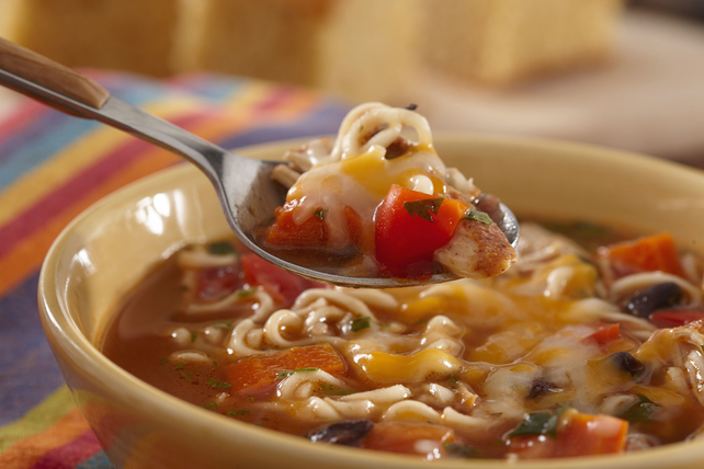 Southwest Slow-Cooker Chicken Ramen Soup Image 1
