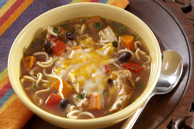 Southwest Slow-Cooker Chicken Ramen Soup Image 1