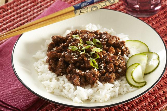 Bols de bœuf barbecue et de riz à la coréenne Image 1