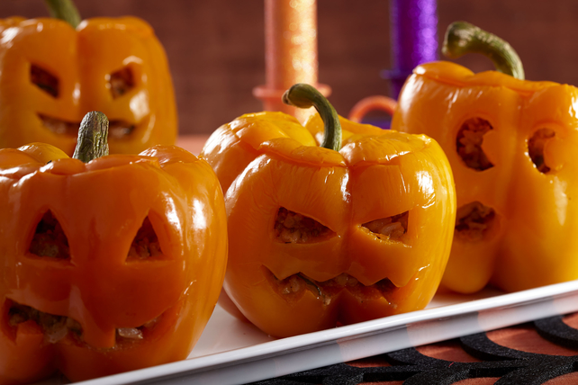 Jack-o'-Lantern Stuffed Peppers Image 1