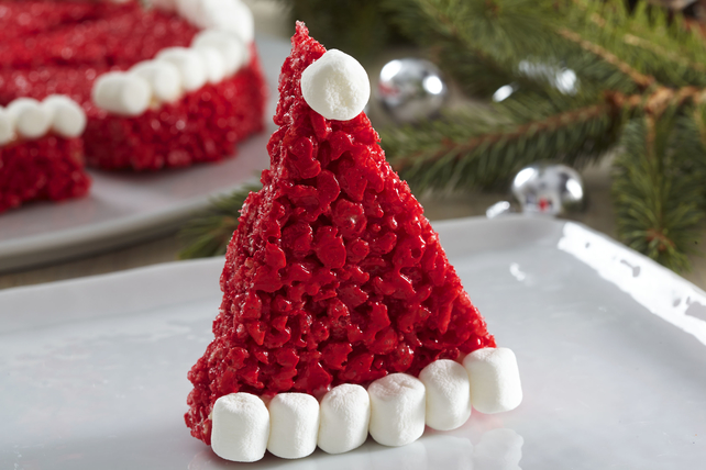 Santa Hat Crispy Treats Image 1