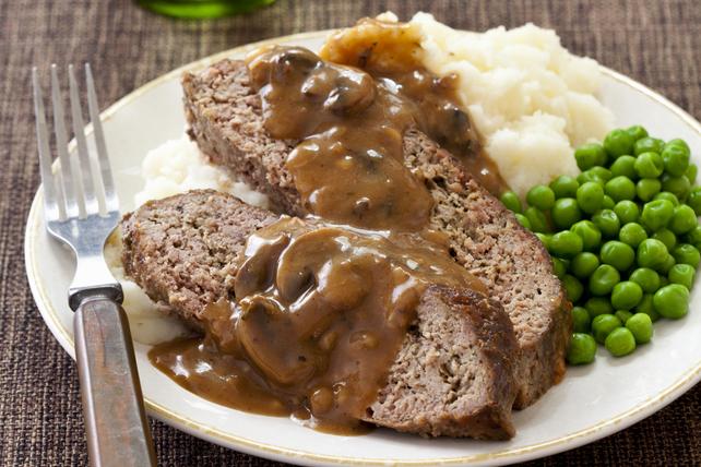 Meatloaf with Mushroom Gravy Image 1