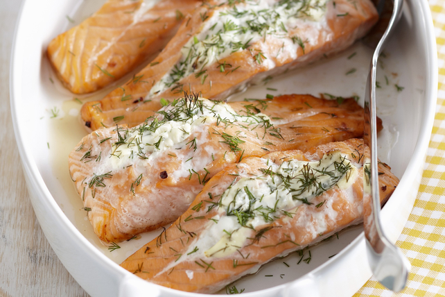 Roasted Salmon with Herbed Cream Cheese Image 1
