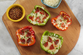 Bell Pepper 'Pizzas' Two Ways