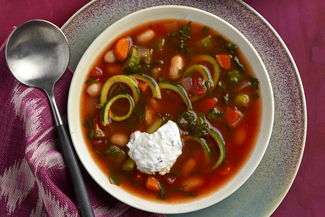 Tuscan Zucchini Noodle Soup Image 1