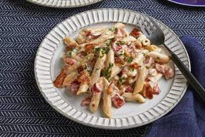 Bacon Alfredo Penne Pasta