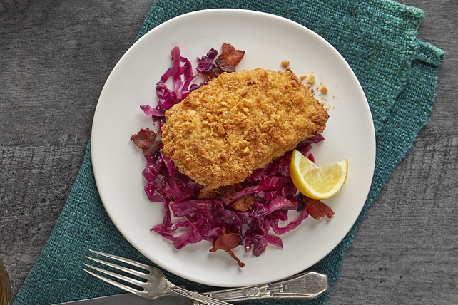 Pork Schnitzel with Red Cabbage Image 1