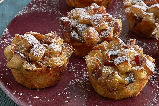 Muffins à la poire et au pain doré cuisinés à l'avance  Image 1
