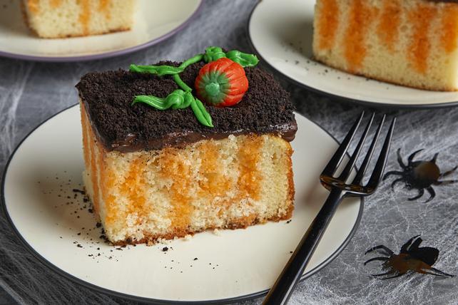 Pumpkin Patch Poke Cake Image 1
