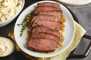 Herb-Rubbed Sirloin Tip Roast & Dijon Sauce