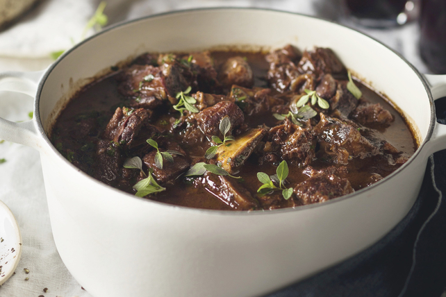 Braised Beef Short Ribs with Red Wine and Chocolate