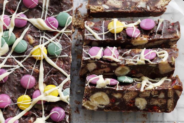 Barres au chocolat, aux fruits et aux noix sans cuisson Image 1