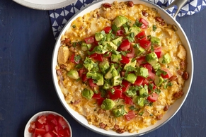 Southwest Cheesy Chicken and Rice Skillet
