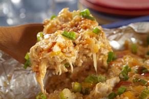 Buffalo Chicken-Quinoa Bake