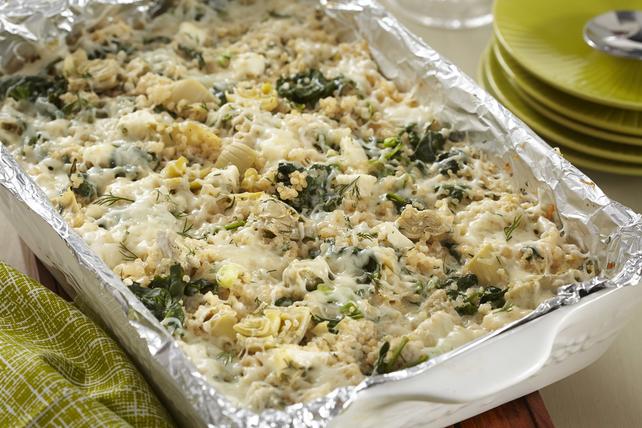 Casserole de quinoa aux épinards et aux artichauts cuisinée à l'avance Image 1