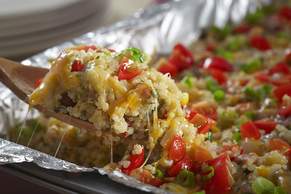 Make-Ahead Cheesy Veggie Taco Quinoa Bake Image 2