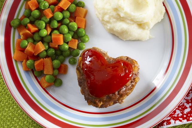 Heart-Shaped Mini Meatloaves Image 1