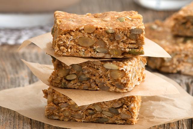 Barres de céréales sans cuisson au beurre d'arachide  Image 1