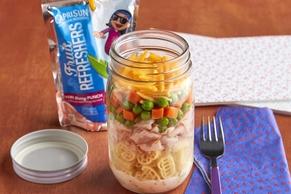Turkey-Ranch Pasta Salad in a Jar