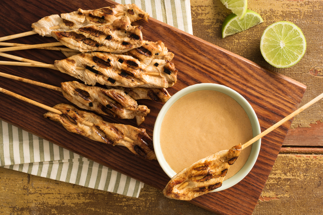 Chicken Satay with Creamy Peanut Sauce Image 1