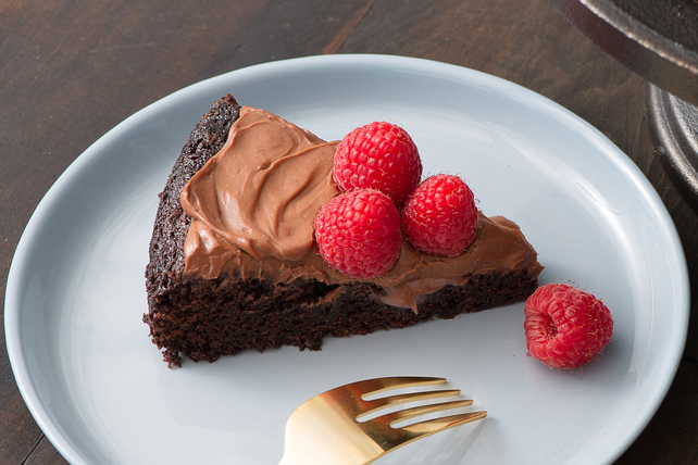Gâteau au chocolat et aux framboises Image 1