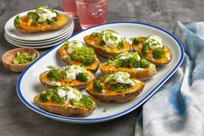 Broccoli-Cheese Potato Skins