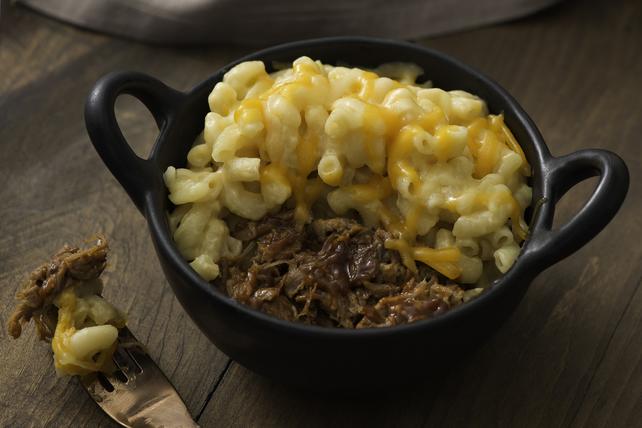 Macaroni au fromage et au porc effiloché Image 1