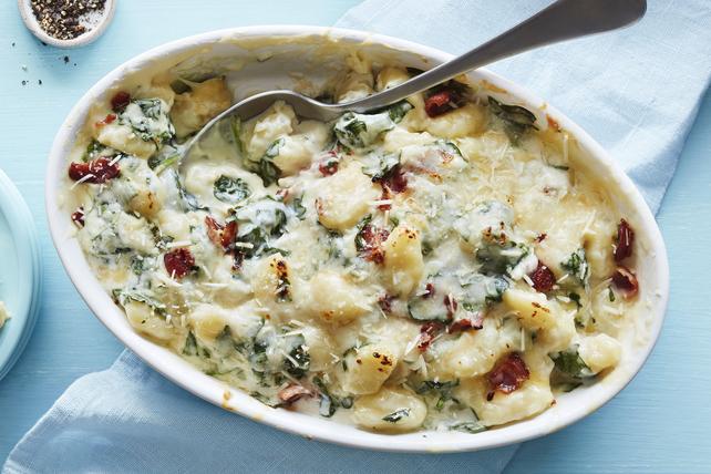 Gnocchis crémeux aux quatre fromages et aux épinards Image 1