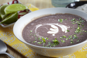 Spicy Black Bean Soup with Bacon