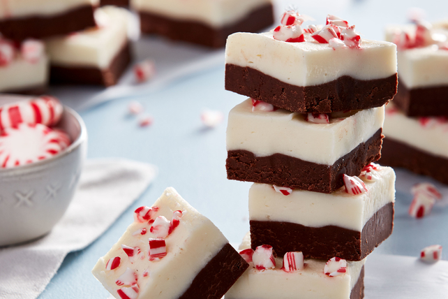 PHILADELPHIA Layered Peppermint Fudge