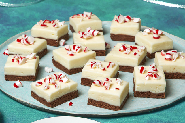 Layered Peppermint Fudge Image 1
