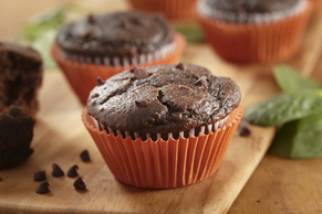 Chocolate-Spinach Muffins