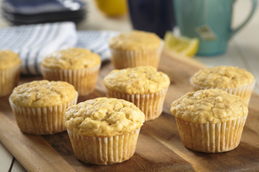 Lemon Flaxseed Muffins
