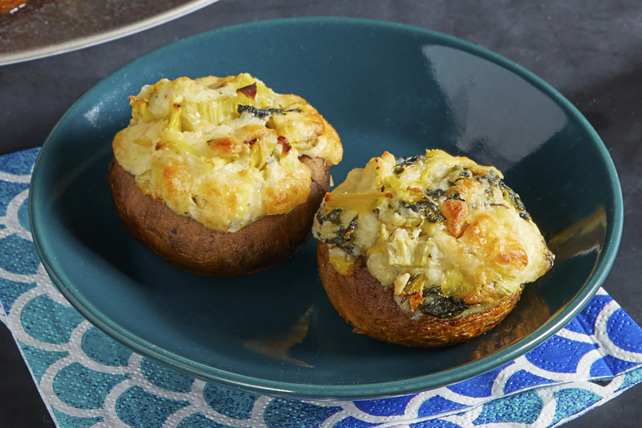 Spinach-Artichoke Stuffed Mushrooms Image 1