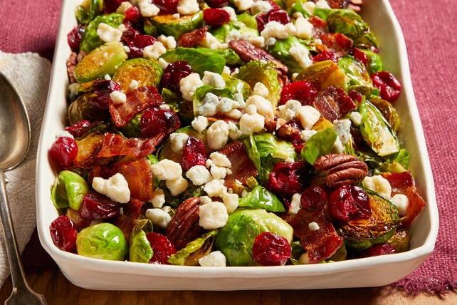Brussels Sprouts with Cranberries and Bacon
