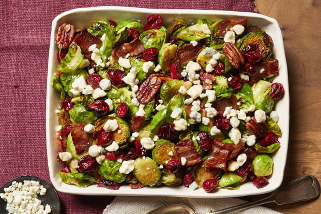 Brussels Sprouts with Cranberries & Bacon Image 1