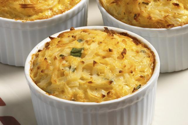 Mini-casseroles de pommes de terre et d'oignons verts au fromage Image 1