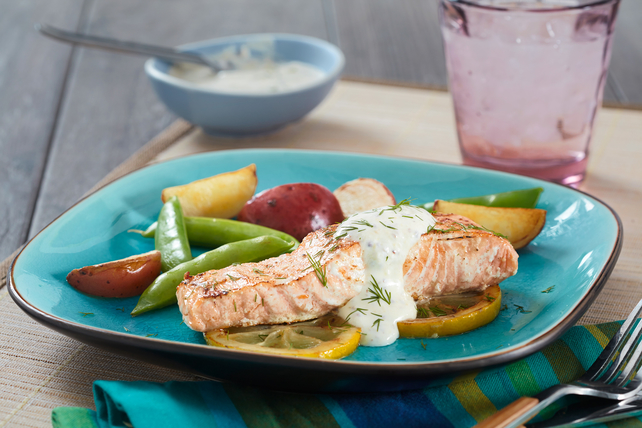 Sous Vide Salmon with Creamy Mustard Sauce Image 1