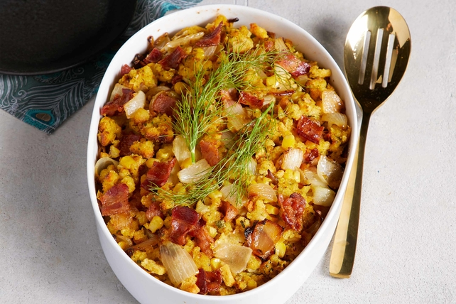 Cornbread Stuffing with Bacon