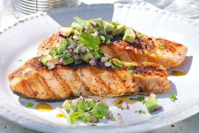 Grilled Salmon with Avocado Salsa Image 1