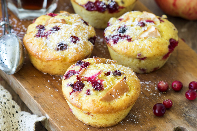 Muffins aux pommes et aux canneberges  Image 1