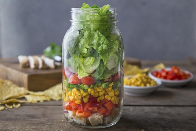 Salade au poulet Tex Mex dans un pot Image 1