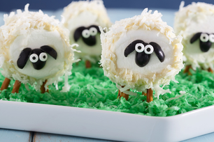 Moutons moelleux en guimauve