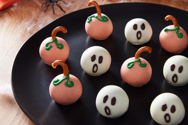 Halloween Cookie Balls - Pumpkins and Ghosts Image 1