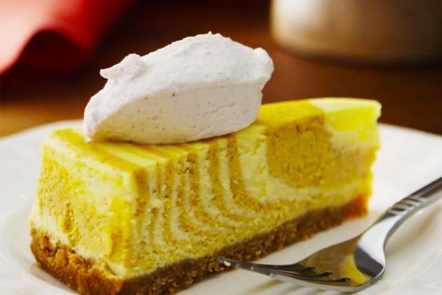 Gâteau au fromage zébré à la citrouille et aux épices Image 1