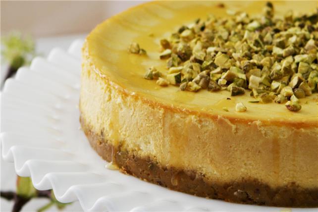 Gâteau au fromage aux pistaches et au miel Image 1